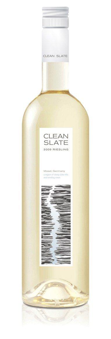 Clean Slate wine packaging