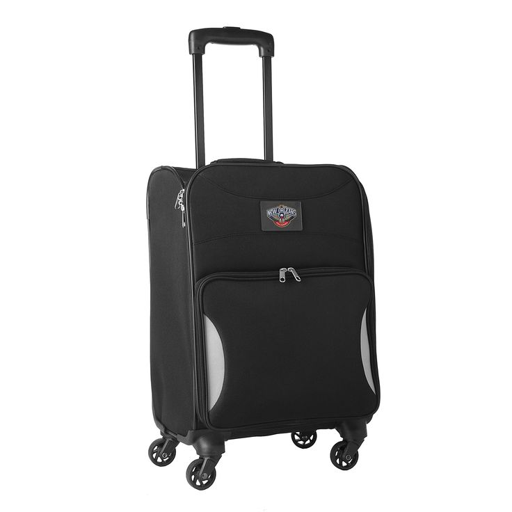 Denco Sports Nimble 18-inch New Orleans Pelicans Carry-on Spinner Upright Suitcase