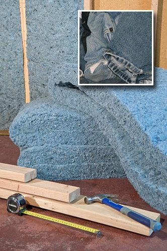 1480 best old jeans recycled images on pinterest for Mold resistant insulation