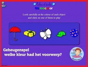 Geheugenspel voor kleuters op digibord of computer, kleuteridee / Kindergarten memorygame for IBW or computer