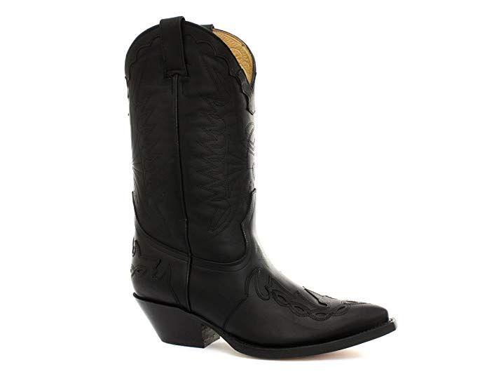 7f5cc761d02b Grinders Arizona Black Mens Cowboy Boots Review