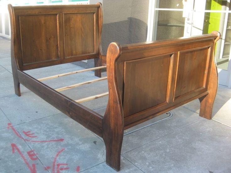 Full Size Sleigh Bed Frame