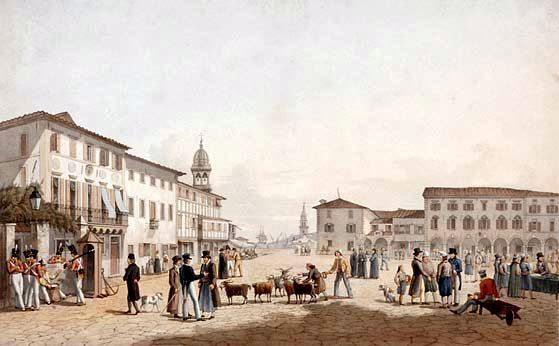 ZANTE . square-saint-mark-by-joseph-cartwrigt-engravers-robert-havell-snr-and-robert-havell-jnr-published-in-london-march-1821