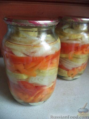 Фото приготовления рецепта: Маринованные кабачки «Нежность» - шаг №11