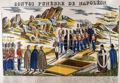 Reflections on A Journey to St Helena: Napoleon's Funeral on St. Helena  (contemporary French Image of the Funeral (circa 1826) )