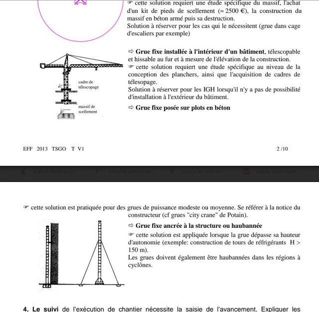 Exercice corrig pour technicien gros oeuvre b timent tsgo for Cours construction batiment pdf