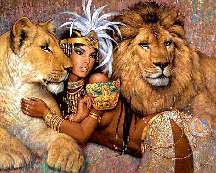 Lioness   Illustration by Karl Bang: