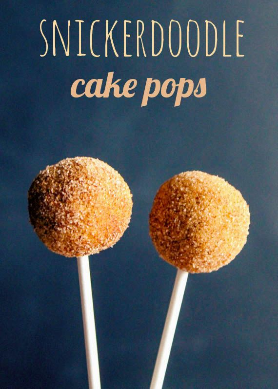 Snickerdoodle Cake Pops....will definitely try these gluten free with Betty Crocker gluten free yellow cake mix