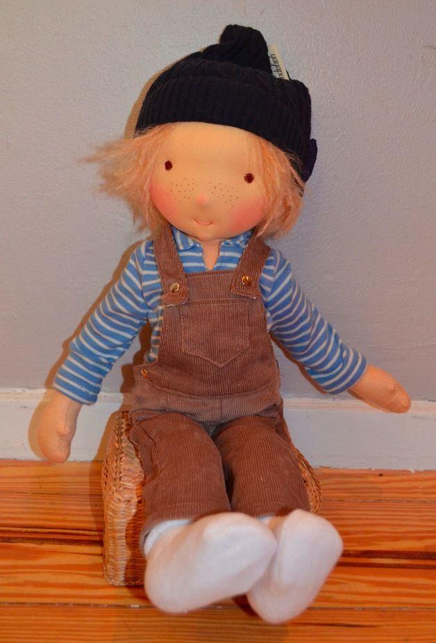 Pepe ist bereits verkauft! Gern fertige ich eine gleiche oder andere Puppe nach deinen Wünschen für dich an! Bitte erfrage vor dem Kauf die aktuellen Lieferzeiten!  Pepe ist ein ca. 45 cm großer...