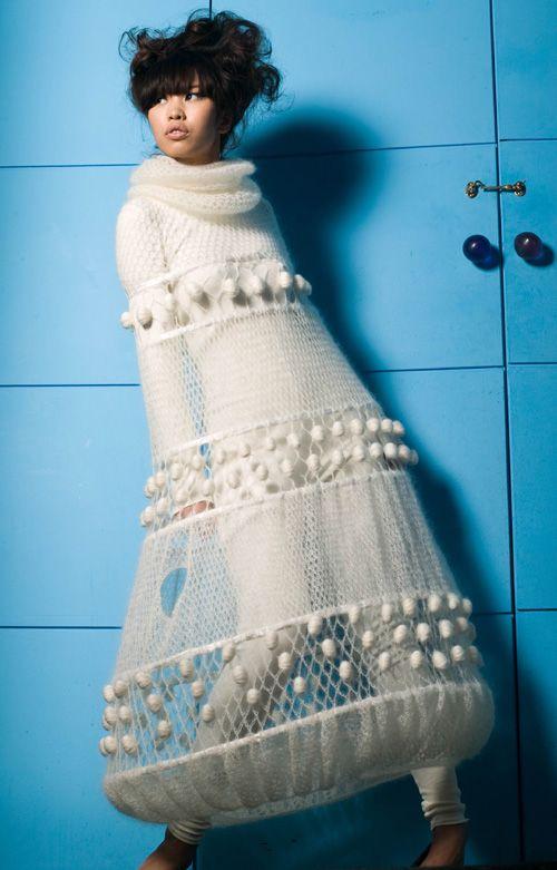 Hand Crocheted Natural Silk Mohair Poncho Isabella Lundberg(1)  Fabric Shops & Isabella Lundberg