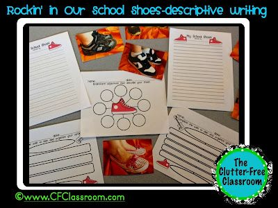 Clutter-Free Classroom: Descriptive writing about their shoes!: Clutter Fre Classroom, Schools Ideas, Shoes Writing, Schools Stuff, Descriptive Writing Activities, Schools Shoes, Writing Ideas, Classroom Things, Classroom Ideas