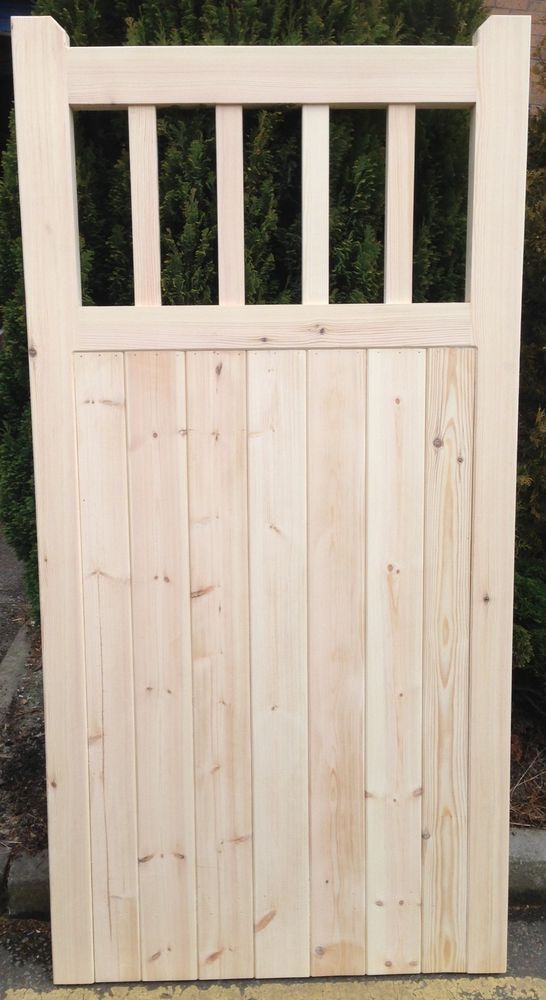 Old Lodge Wooden Cottage Style Timber Side Garden Gate