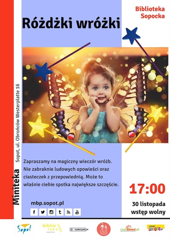 #mbpsopot #bibliotekasopocka #sopot #biblioteka #library #event #poster #plakat #forkids #dzieci #magic
