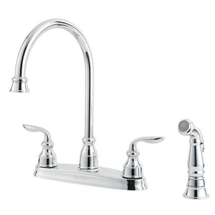 The Pfister Polished Chrome Direct For Avalon High Arc Kitchen Faucet With Flex Line Supply Lines And Pfast Connect