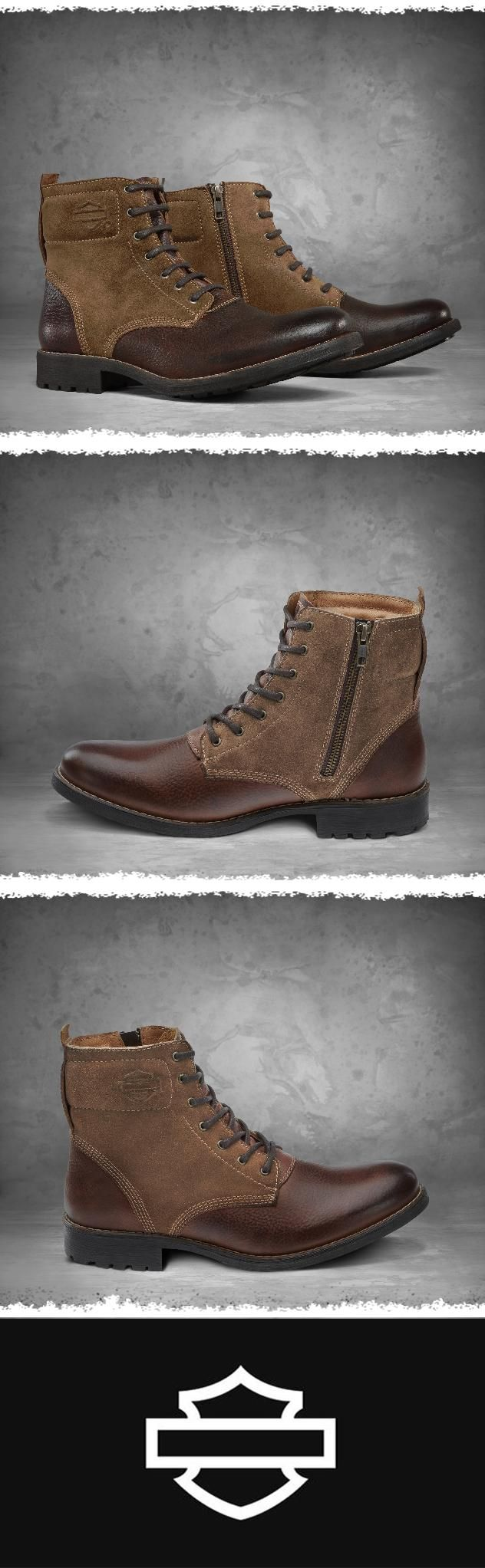 Who says you can't have stylish boots with excellent quality when you're kicking back off-the-bike?   Harley-Davidson Men's Stevenson Boots #FathersDay