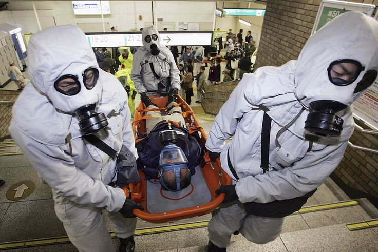 March 20, 1995: Nerve gas attack on Tokyo subway. At the height of the morning rush hour in Tokyo, Japan, five two-man terrorist teams from the Aum Shinrikyo religious cult, riding on separate subway trains, converge at the Kasumigaseki station and secretly release lethal sarin gas into the air. The terrorists then took a sarin antidote and escaped while the commuters, blinded and gasping for air, rushed to the exits. Twelve people died.