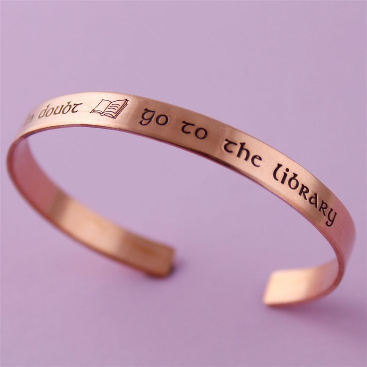 When in Doubt Go to the Library Cuff - Spiffing Jewelry - Harry Potter