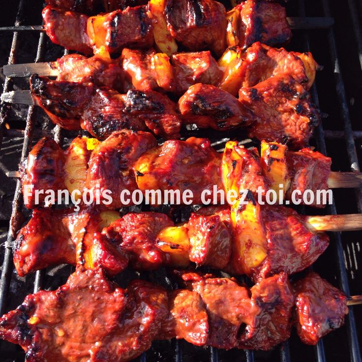 Brochettes de bœuf sur le BBQ | François Comme chez toi