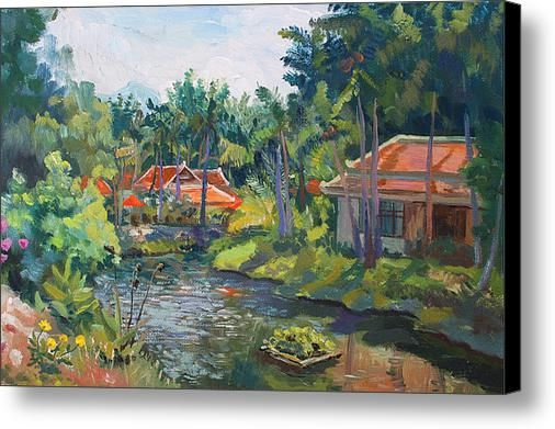 SAMUI LIFE by ALINA MALYKHINA.  Belongs to the Gallery RUSSIAN ARTISTS NEW WAVE. #RussianArtistsNewWave #AlinaMalykhina #Water #Summer #Love #Joy #Art #Painting #ArtForHome #Prints #Samui #Thailand #Travel #Leisure #Canvas
