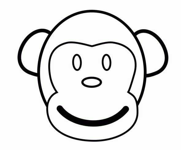 23 best images on pinterest animal masks for Monkey face coloring pages