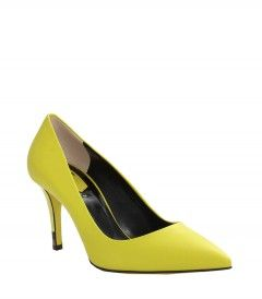 Fendi Neon Pump - Shop more bright ideas for styling neon hues: http://shop.harpersbazaar.com/in-the-magazine/what-s-in-lite-brite