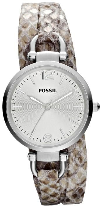 $81 Ladies Fossil Watches -  Georgia Python Print Leather Ladies Watch