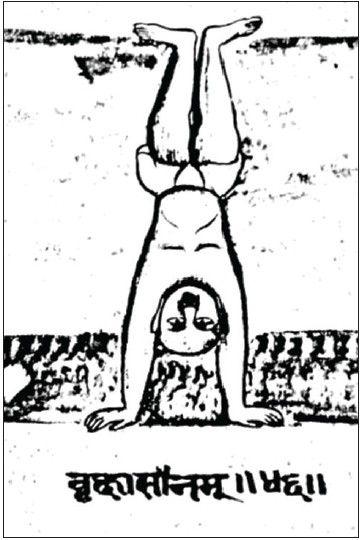 "Vrksasana, Satapathy B, Sahay GS. A brief introduction of ""Yogāsana - Jaina"": An unpublished yoga manuscript. Yoga Mimamsa 2014;46:43-55"