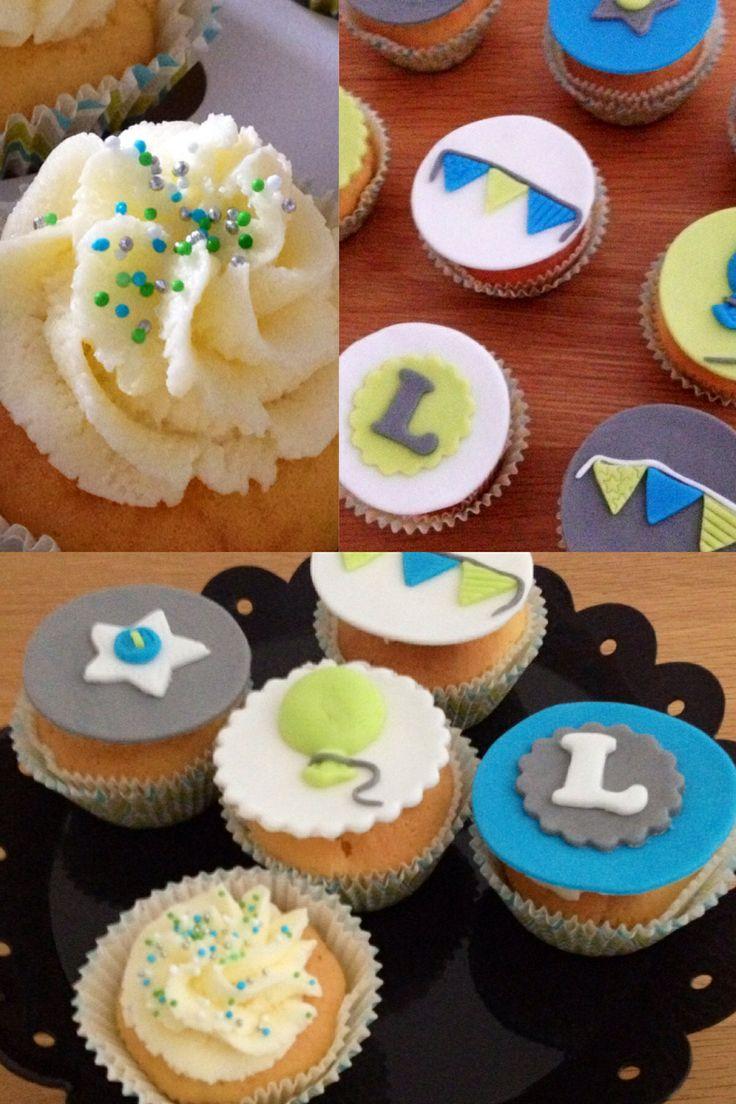 stoere cupcakes voor een jongen, voor het feestje ter ere van zijn 1e Heilige Communie www.cakesenjoy.blogspot.com