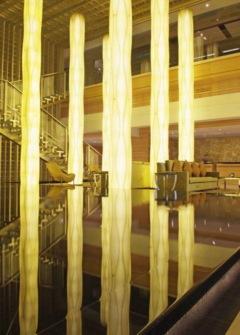 lobby at jw marriott hotel shenzhen interior designed by