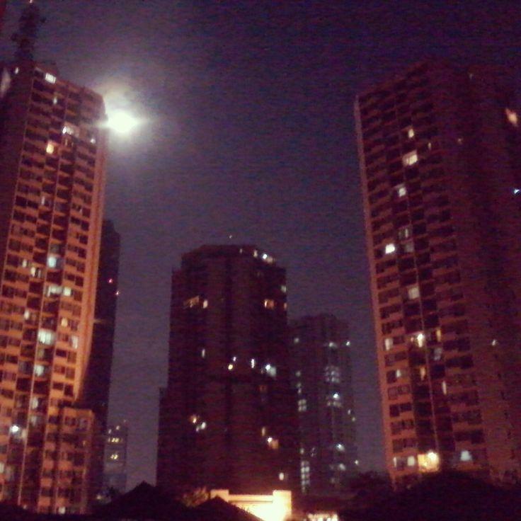 Moon over Taman Rasuna Apartement