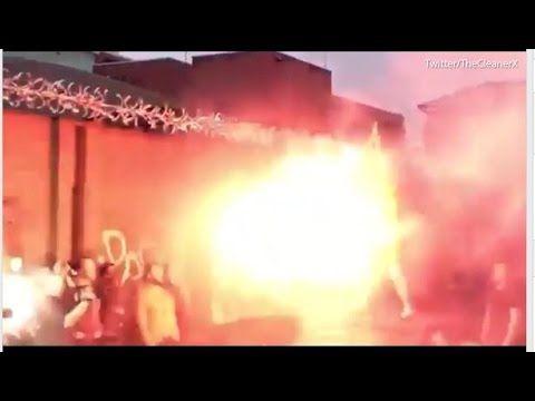 WWE Wrestler Kota Ibushi Sets Himself On Fire Using a Firework   Daily M...