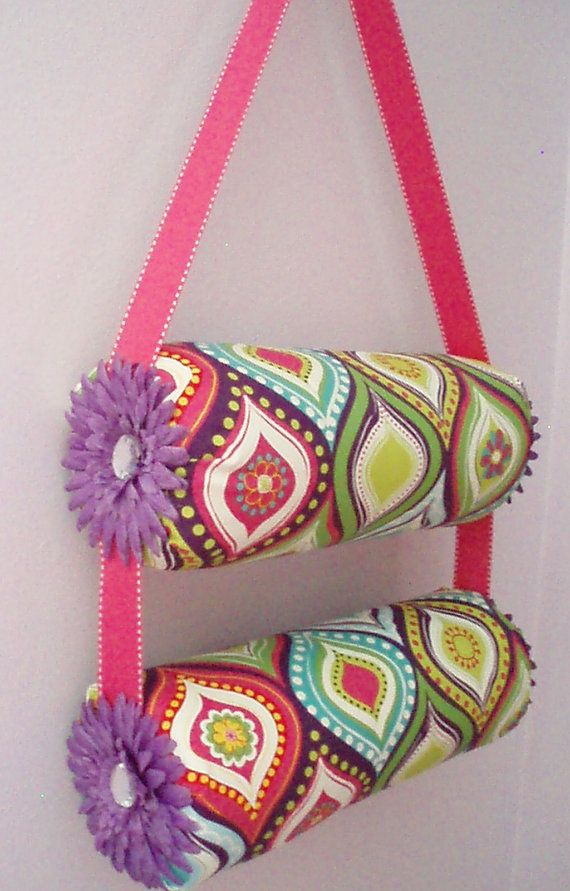Double 13 Inch Hanging Fabric Headband Organizer Headband Holder on Etsy, $35.00