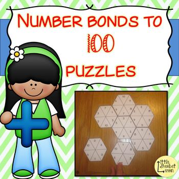 These differentiated fun and challenging puzzles are great for those who have mastered their number bonds to 10 & 20 and now need to move onto number bonds to 100. Included in this pack are 5 lots of each type of number bond puzzle: 5 x number bonds to 100 using multiples of 10 (e.g. 30, 70) 5 x number
