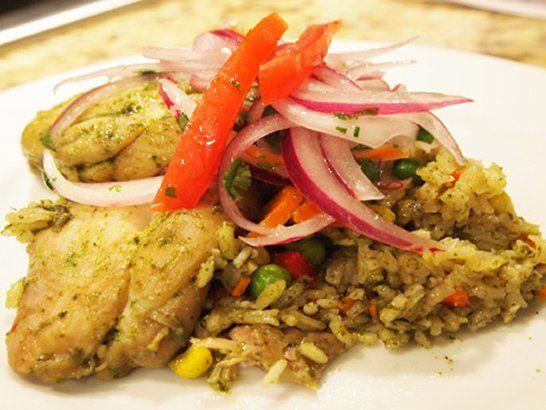 Peruvian Arroz con Pollo - Peruvian Chicken and Rice | QueRicaVida.com