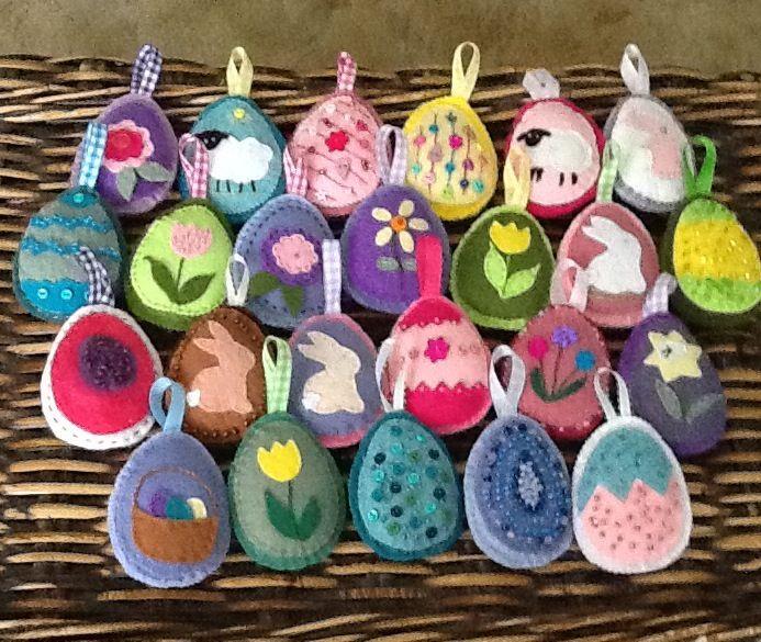 My Felt Easter Eggs