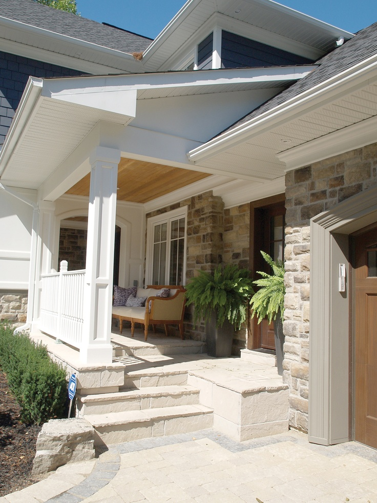 17 best images about front porch on pinterest stains fall entryway decor and columns - Home exterior stone design ideas ...