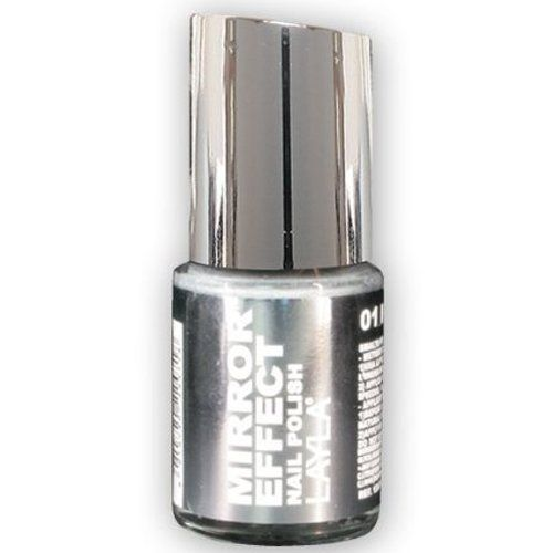 Layla Mirror Effect Nail Polish (Metal Chrome #1) Layla Cosmetics http://www.amazon.com/dp/B0091W9NF6/ref=cm_sw_r_pi_dp_prRyvb0G7QRMV