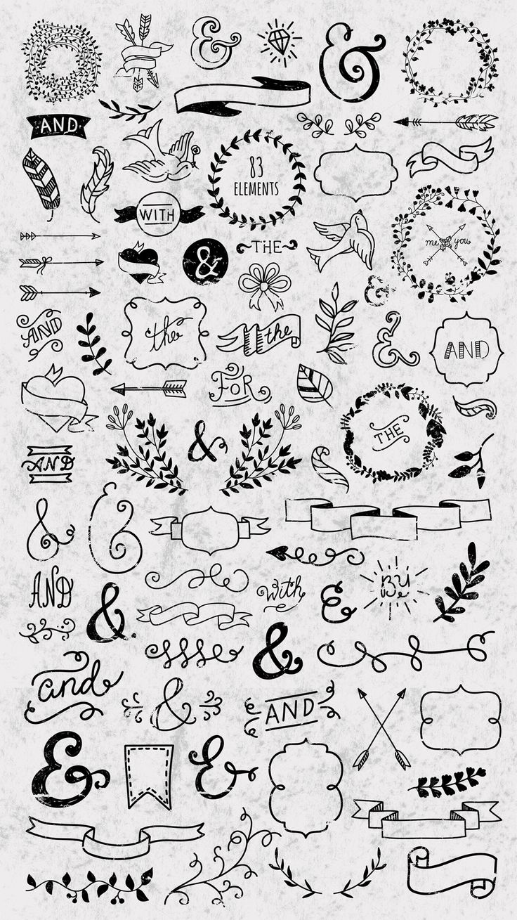 Hand drawn designers collection by redchocolate on @creativemarket