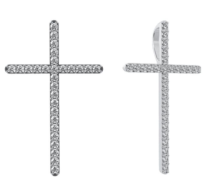 Стильный подвес с бриллиантами. Минималистичный дизайн соответствует трендам современности. Крест – позитивный символ и оберег. Купить золотой подвес – всегда быть под божественной защитой. Предлагаем Вашему вниманию другие украшения ювелирного бренда Nico Juliany.