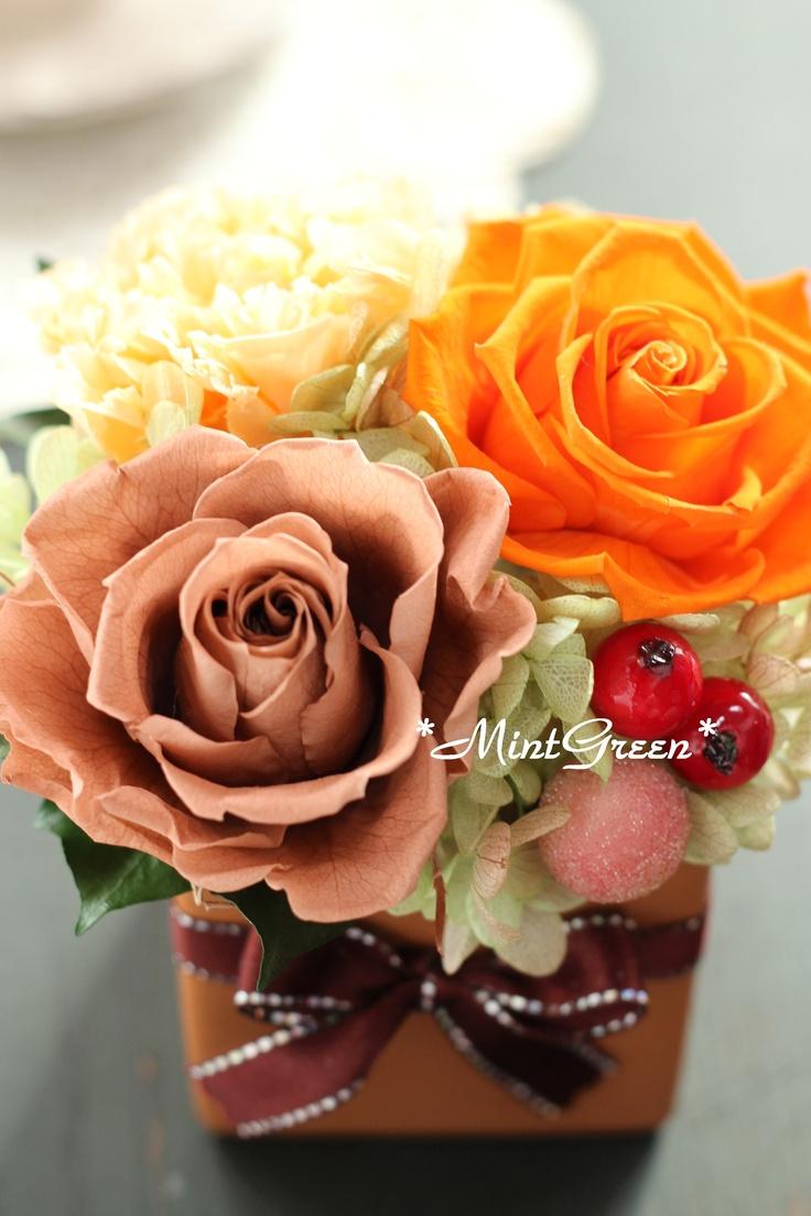 フルーツケーキのイメージでアレンジ