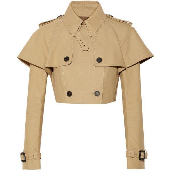 Burberry Prorsum Cropped cotton-gabardine jacket found on Polyvore