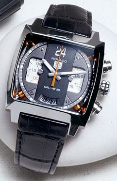 Cool watch~Steel Monaco 24 chronograph by TAG Heuer***