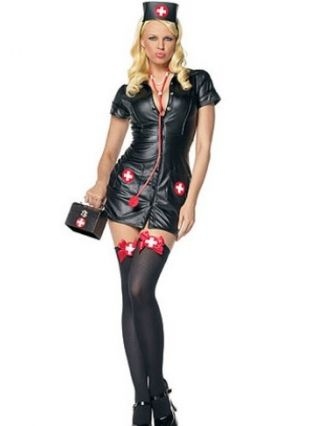 Naughty Nurse Fancy Dress Costume by Smiffy's Sexy Naughty Nurse Costume  Includes Zip Up Front Dress and Hat Fever at Smiffys Range.