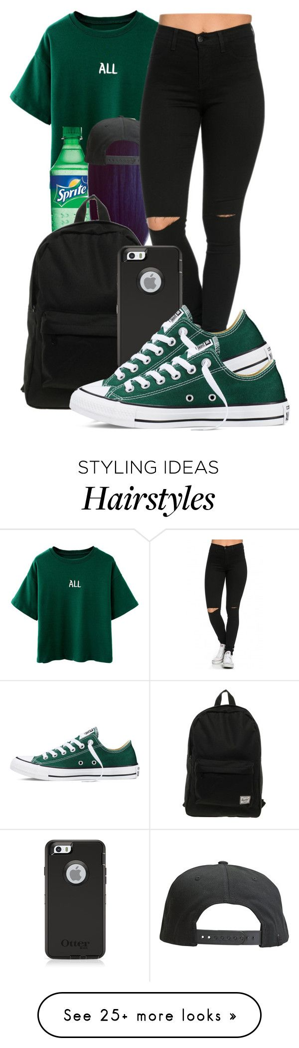 """Bee"" by honey-cocaine1972 on Polyvore featuring Tavik Swimwear, Herschel and Converse"