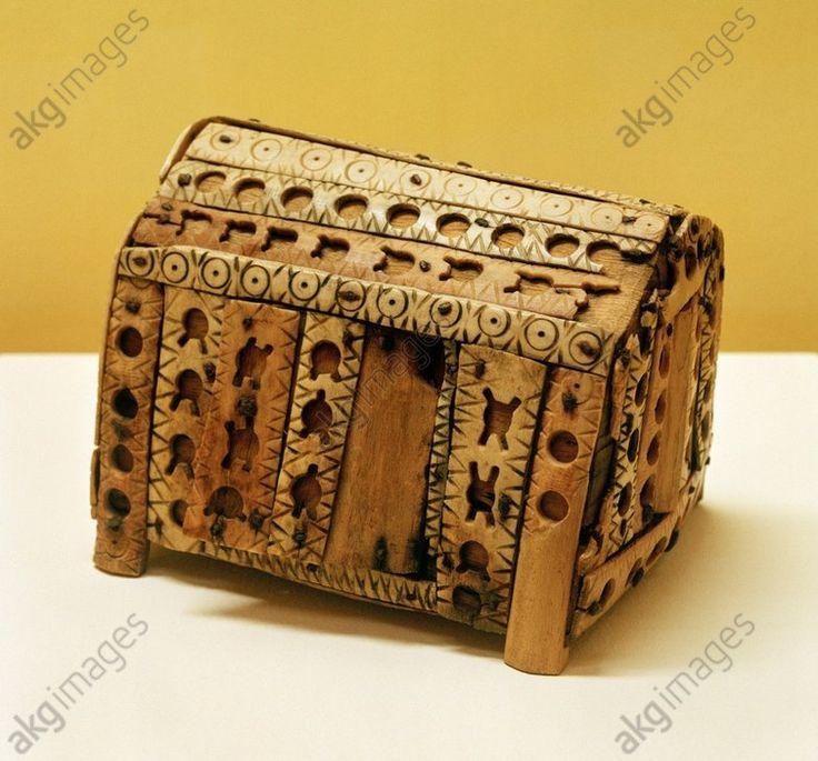 Wood and bone reliquary, Novalesa, Piedmont, Italy, c750
