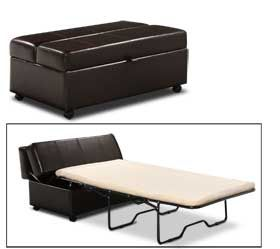Twin sleeper ottoman. This would be really cool for in the office! Make it an easy guest room!