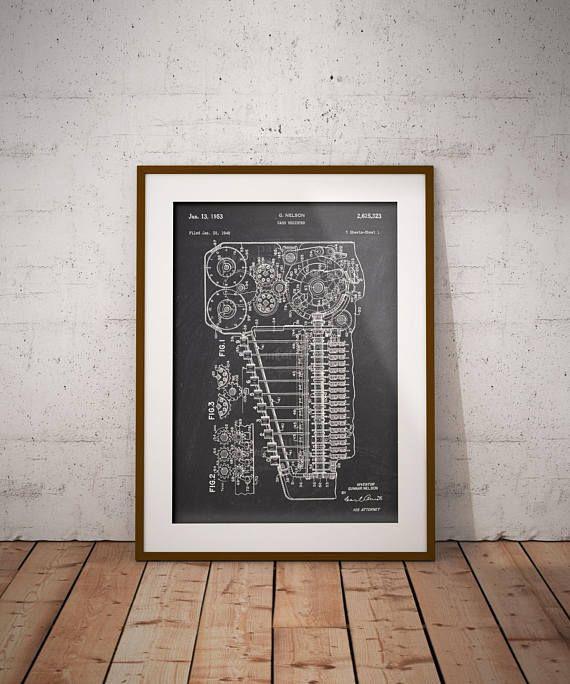 Cash Register 1953 Patent Poster Shop Till Patent Print Cash