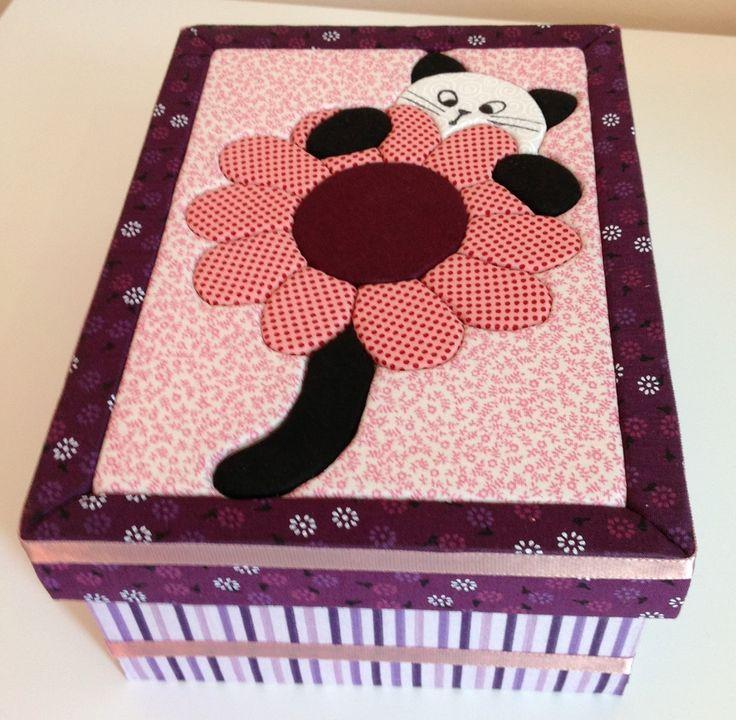 Caja forrada con tela