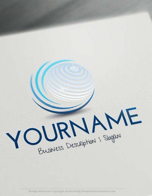 Design Online Logo Maker Free 3D Globe Online #logos