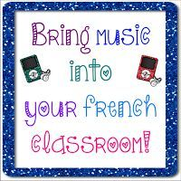 This blog post has some fun ways to use music in your French class and provides a list of songs that can be used for vocabulary, verbs, culture, and so much more!